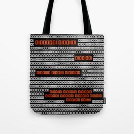 AM I NOT MERCIFUL? - Binary Code Tote Bag