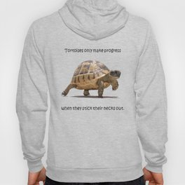 Tortoises Only Make Progress When They Stick Their Necks Out Hoody