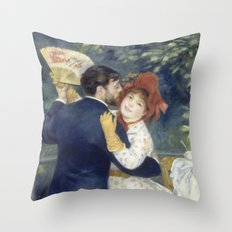 The Country Dance by Renoir Throw Pillow