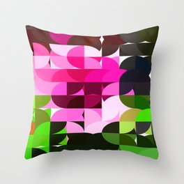 Rosas Moradas 1 Abstract Circles 1 Throw Pillow