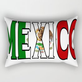 Mexico Font with Mexican Flag Rectangular Pillow