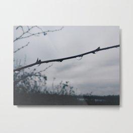 gloomy rain Metal Print