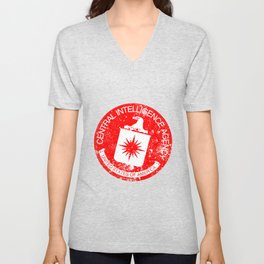CIA Rubber Stamp Unisex V-Neck