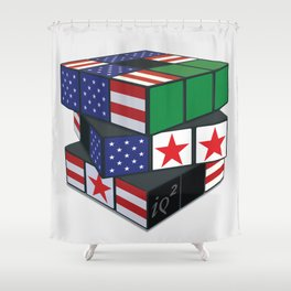 The U.S. Has No Dog In The Fight In Syria Shower Curtain