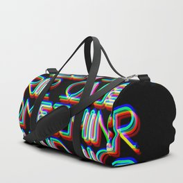 NEON Sign - Don't Trip Over Something Behind You Duffle Bag