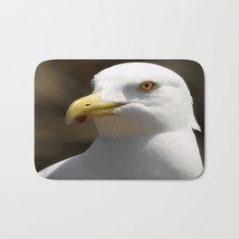Gull Portrait 2 photography Bath Mat