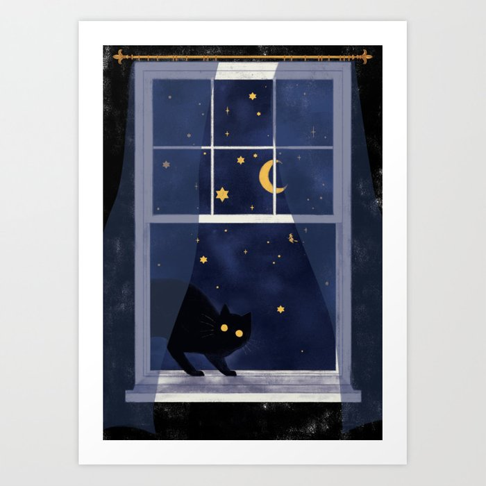 October visitor Art Print