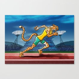 Olympic Runner Cheetah Canvas Print
