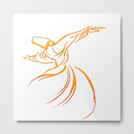 Sema The Dance Of The Whirling Dervish Metal Print