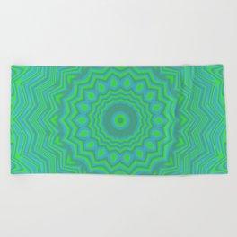 Funky Kaleidoscope 3 Beach Towel