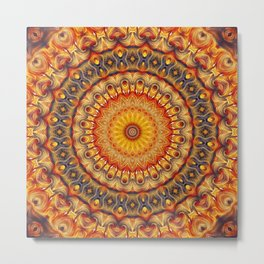 Flower Of Life Mandala (Cosmic Dance) Metal Print