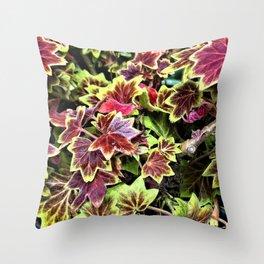 Painted Geraniums Throw Pillow