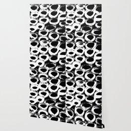 Minimal [4]: a simple, black and white pattern by Alyssa Hamilton Art Wallpaper