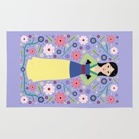 mulan Area & Throw Rugs featuring Mulan by Carly Watts