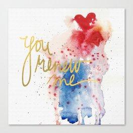 You renew me Canvas Print