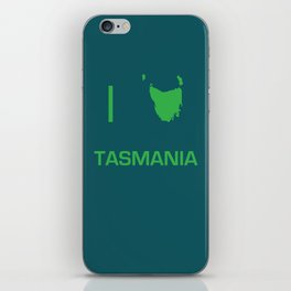 I heart Tasmania iPhone Skin