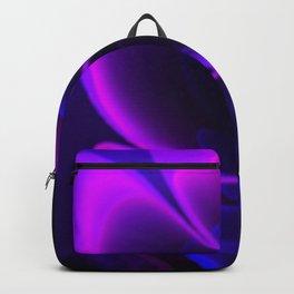 Stylized Half Flower Indigo Backpack