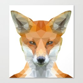 Low Poly Fox face Canvas Print