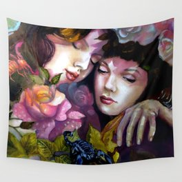 Protection Between Us Wall Tapestry