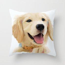 Golden Retriever Pup Throw Pillow