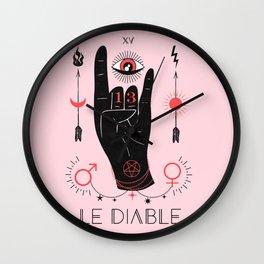 Le Diable or The Devil Tarot Wall Clock