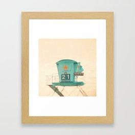 Lifeguard station. No. 21 Framed Art Print