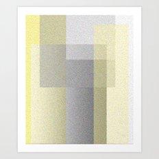 Yellow Shadows Art Print