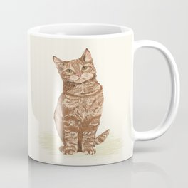 Orange Tabby Cat cute sitting cat lady gift customized pet portrait pet friendly gifts for cat owner Coffee Mug