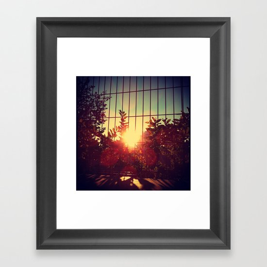 Morning lights Framed Art Print