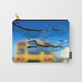 yellow bus and ice photography Carry-All Pouch