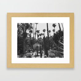 Tropical Cacti Gardens BW Framed Art Print