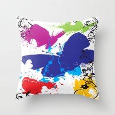 Painted Butterflies Throw Pillow