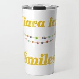 Tiara for smiles braces brace girls girl mother gift tee Travel Mug