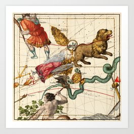 Virgo, Hydra, Crater, Bootes, Leo, Centaurus And Other Constellations Art Print