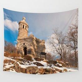 Winter Gettysburg Castle Wall Tapestry
