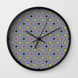 Blooming Blue Wall Clock