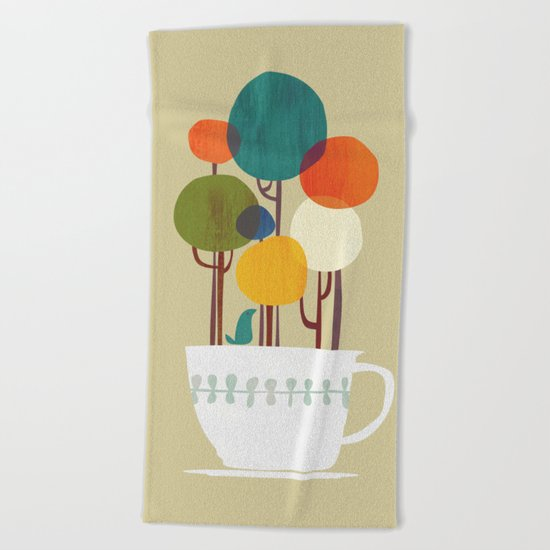 Life in a cup Beach Towel