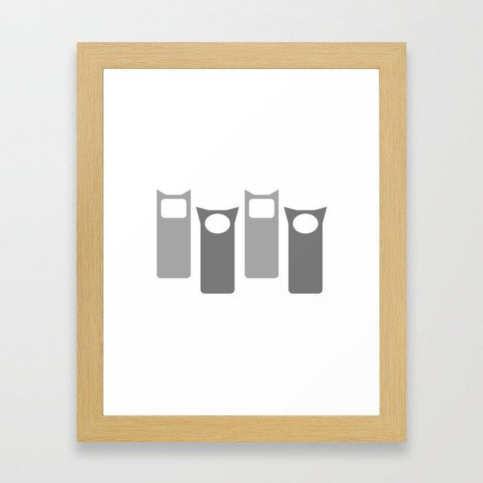Grey Four Framed Art Print