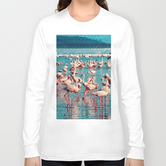 Pink flamingos Long Sleeve T-shirt