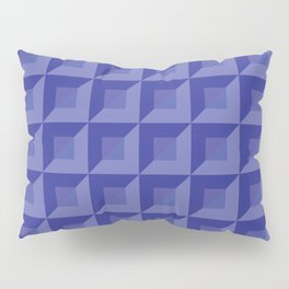 Light blue, blue and light violet squares and triangles tiles Pillow Sham