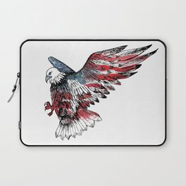 Watercolor bald eagle symbol of the United States Laptop Sleeve