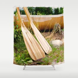 Canoe Paddles Boundary Waters Shower Curtain