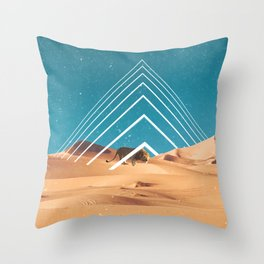 The Lion in the Desert Throw Pillow