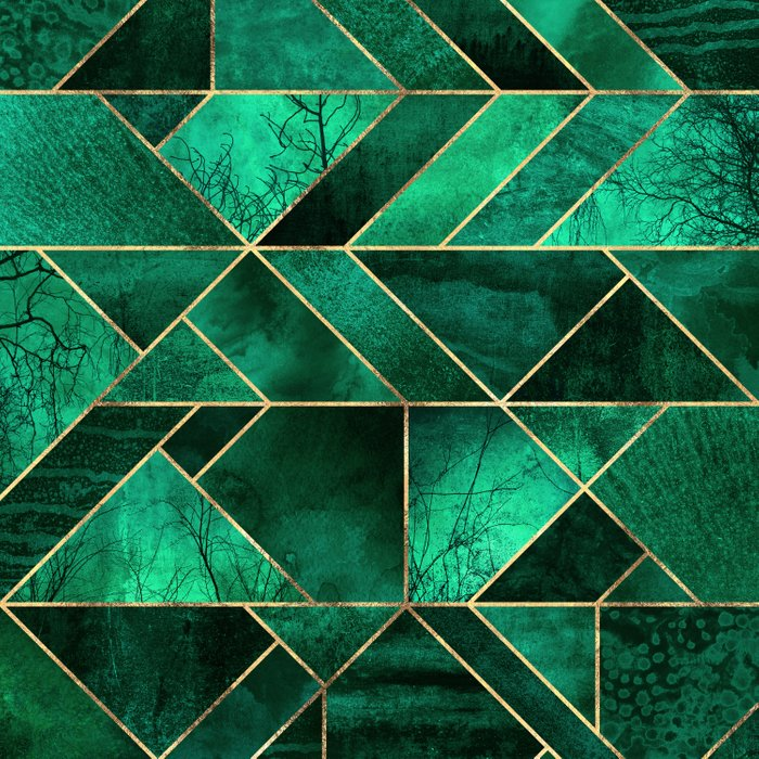Abstract Nature Emerald Green Duvet Cover By