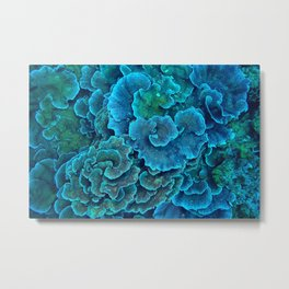 Blue sea creatures Metal Print