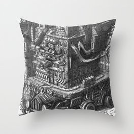 The Roving Entertainment Building Throw Pillow