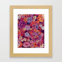 Scarlet Flowers Framed Art Print