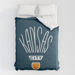 Kansas City Shuttlecock Type - White Comforters