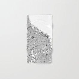 Buenos Aires White Map Hand & Bath Towel