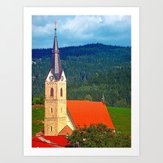 The village church of Reichenau I | architectural photography Art Print